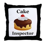 Cake Inspector Throw Pillow