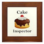 Cake Inspector Framed Tile