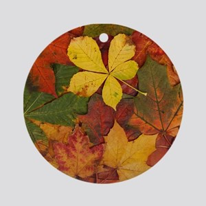 FALL LEAVES Ornament (Round)