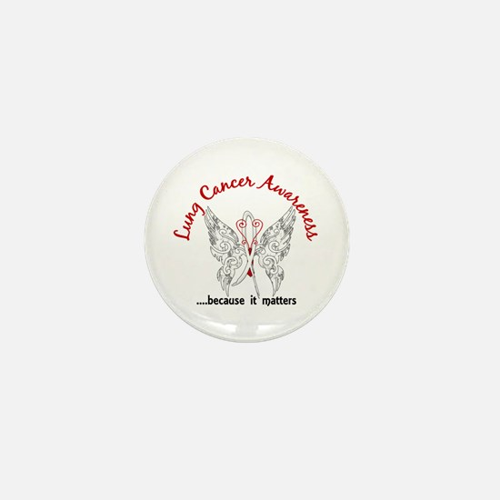 Lung Cancer Butterfly 6.1 Mini Button