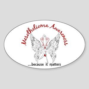 Mesothelioma Butterfly 6.1 Sticker (Oval)