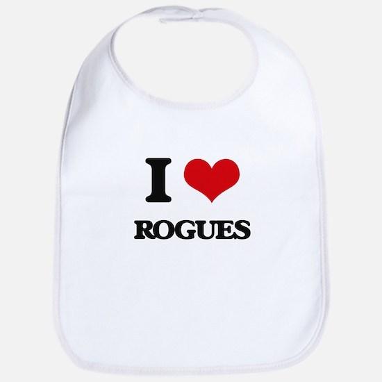 I Love Rogues Bib
