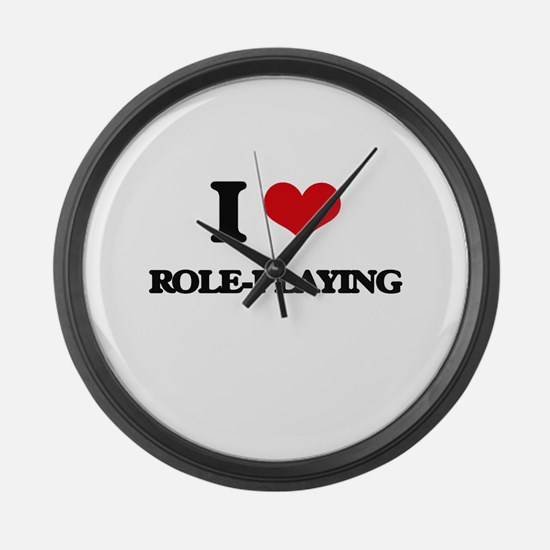 I Love Role-Playing Large Wall Clock