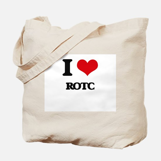 I Love Rotc Tote Bag
