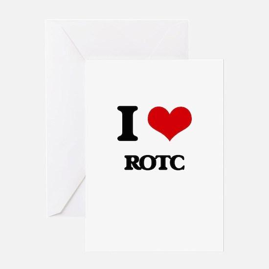 I Love Rotc Greeting Cards