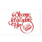 Oh come let us adore Him Postcards (Package of 8)