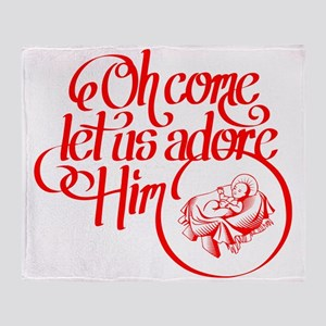 Oh come let us adore Him Throw Blanket