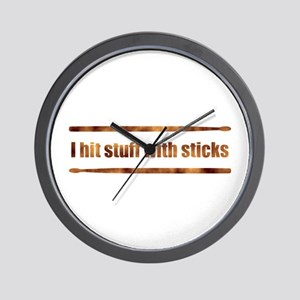 Drum Stick Wall Clock