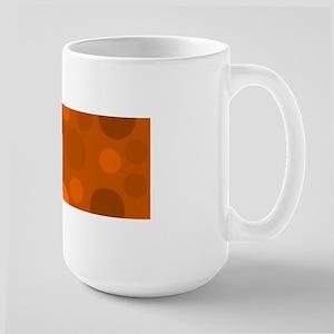 Light Orange Dark and Brown Modern Dots Large Mug