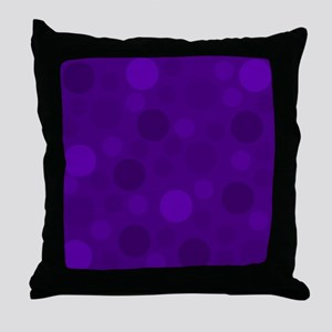 Purple Lavender Dark Light Modern Dot Throw Pillow