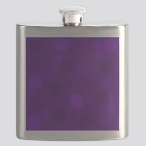 Purple Lavender Dark Light Modern Dots Flask