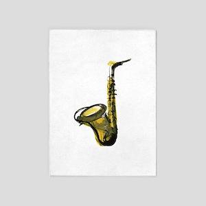 saxophone 5'x7'Area Rug