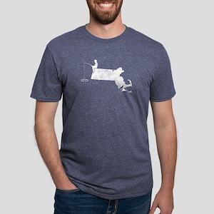 Ice Fishing Is Calling MA Tuna Fishing Shi T-Shirt