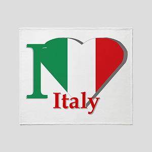 I love Italy Throw Blanket