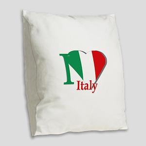 I love Italy Burlap Throw Pillow