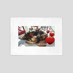 Unconditional Love 5'x7'Area Rug