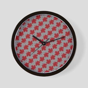 Canadian Maple Pattern Wall Clock