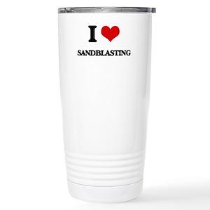 I Love Sandblasting Stainless Steel Travel Mug