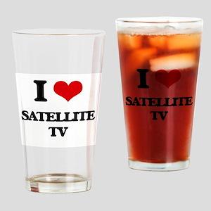 I Love Satellite Tv Drinking Glass