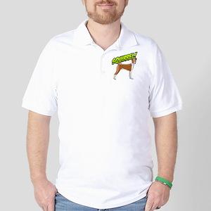 Squirrel!  - Basenji Golf Shirt