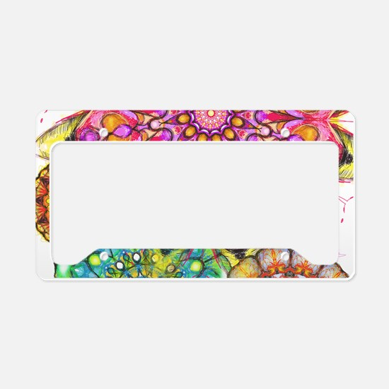 Floral Patten 2 License Plate Holder