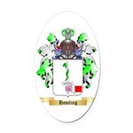 Howling Oval Car Magnet
