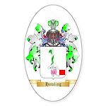 Howling Sticker (Oval)