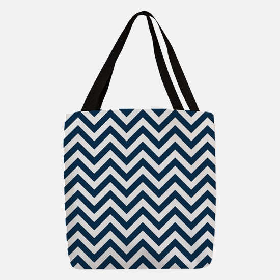 Prussian Blue Chevron Pattern Design Polyester Tot