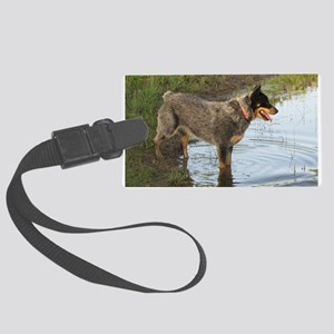 Austrailan Blue Heeler Large Luggage Tag