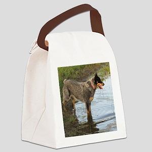 Austrailan Blue Heeler Canvas Lunch Bag