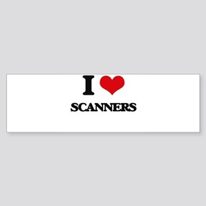 I Love Scanners Bumper Sticker