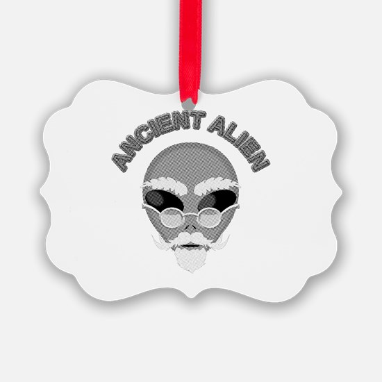 Alien Head In Halftone Ornament