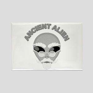 Alien Head In Halftone Magnets