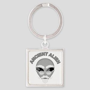 Alien Head In Halftone Keychains