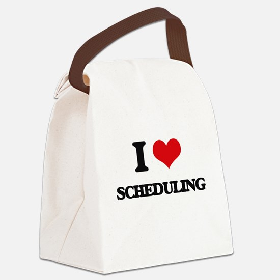 I Love Scheduling Canvas Lunch Bag