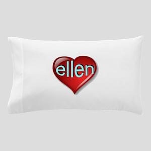 the ellen heart (Front & Back) Pillow Case