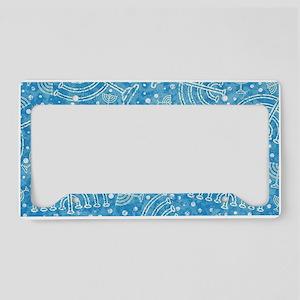 Hanukkah Menorah Pattern License Plate Holder