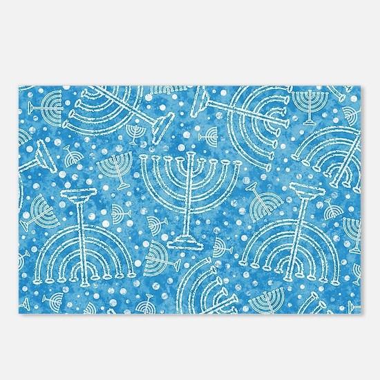 Hanukkah Menorah Pattern Postcards (Package of 8)