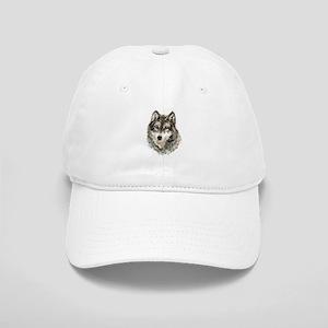 Watercolor Grey Gray Wolf Animal Nature Art Hat