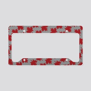 Canadian Maple Pattern License Plate Holder