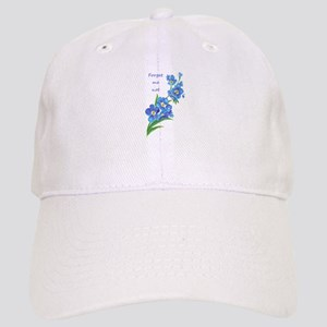 Forget-Me-Not Watercolor Flower & Quote Hat
