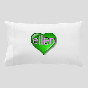 the emerald ellen heart Pillow Case
