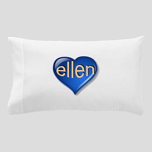 the blue diamond ellen heart Pillow Case