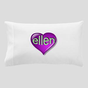 the purple passion ellen heart Pillow Case