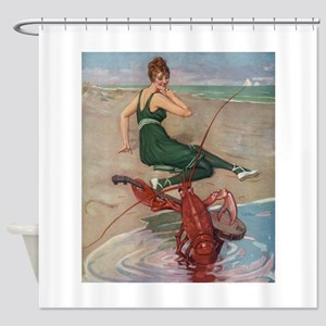 Lobster Serenade Shower Curtain