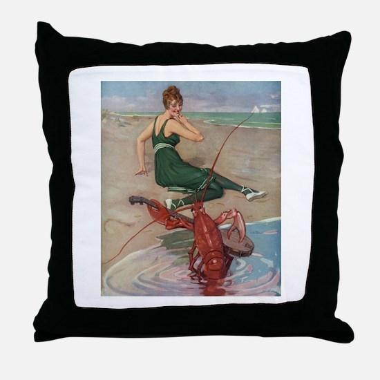 Lobster Serenade Throw Pillow