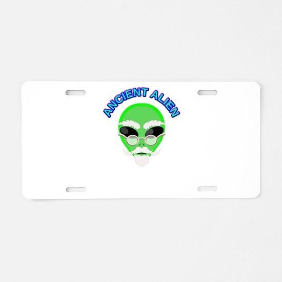 An Ancient Alien Aluminum License Plate