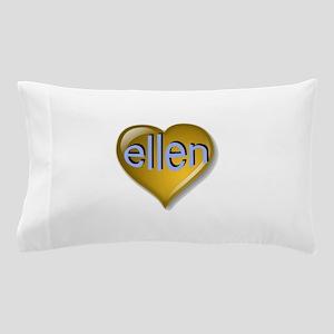 the saphire ellen heart Pillow Case