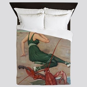 Lobster Serenade Queen Duvet
