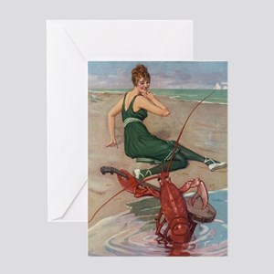 Lobster Serenade Greeting Cards